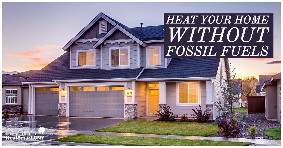 Heat your home without fossil fuels